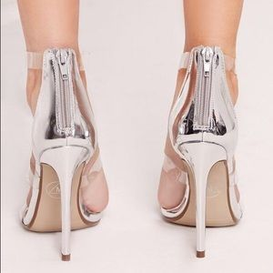 d902d4580c5 Missguided Shoes - NEW Missguided Silver Clear strap heeled sandals